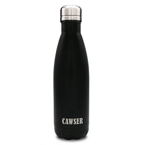 CAWSER Portatile Borraccia in Acciaio Termica Bottiglia Sportive