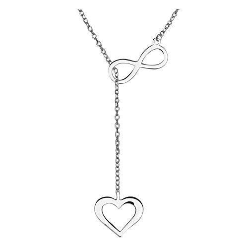 SOFIA MILANI Damen Halskette Herz Unendlich Anhänger Silber 50147