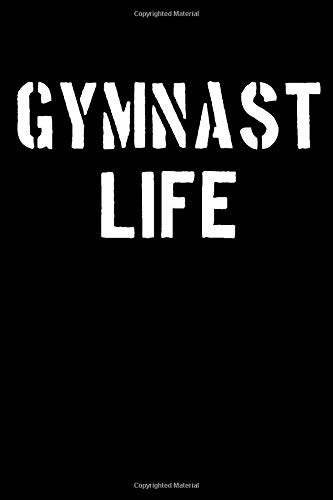 Gymnast Life: Blank Lined Journal College Rule Stencil Text