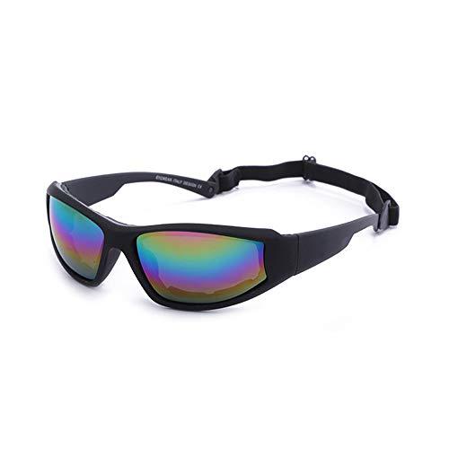 Happy Together Explosionssichere Sonnenbrille Outdoor Radfahren Brille Skibrille Fahrrad Motorrad Sonnenbrille Männer Sonnenbrille Tornado Radfahren Laufen Sport Sonnenbrille (Farbe : C)