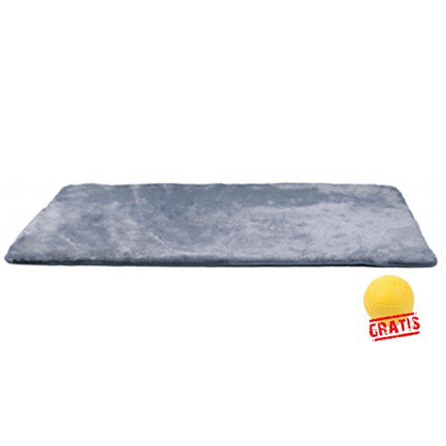 dry bed TRIXIE THERMODECKE +BALL Gratis Hundedecke Hunde Decke Plüsch-Bezug Rutschfester Boden Weich (75 × 50 cm)