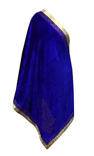 Confidence Velvet Stole For Women Blue 25 Gram Pack Of 1