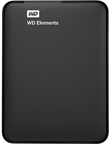 WD Elements - Disco duro externo portátil de 3 TB con USB 3.0, color negro + WD Grip Pack - Funda de disco duro para My Passport Ultra (incluye cable USB 3.0), cielo