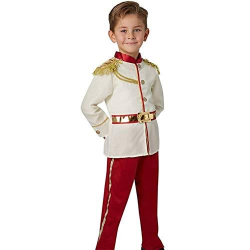 Horse White Kostüm - GUAN Halloween-Kostüme Märchen für Kinder Schöne und charmante White Horse Prince Dress Up Boys Halloween-Kostüme