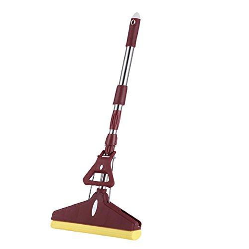 GAOJIAN Diy Kleber Baumwolle Mop Home Roller Typ Schwamm Mop Teleskop Pole Boden Reinigung Werkzeug Squeeze Wasser Mops Long138Cm Wide 27Cm