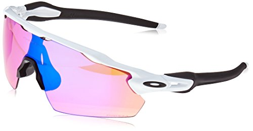 Oakley Herren Radar Ev Pitch 921113 38 Sonnenbrille, Weiß (Polished White/Prizmtrail),