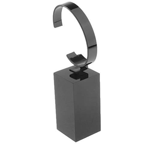 perfk Schmck Display Stand Acryl Uhrenständer zum Uhren oder Armbänder Anzeigen Armband-Präsentationsständer - 8 cm Schwarz