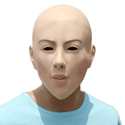 HAORONG Weibliches Gesicht Latex Maske Kostüm Halloween Kostüm Living Dolls Crossdresser