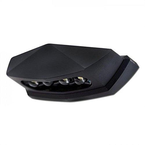 Preisvergleich Produktbild LED-Kennzeichenbeleuchtung Diamond schwarz E-geprüft Universal Motorrad Roller Nummernschildbeleuchtung