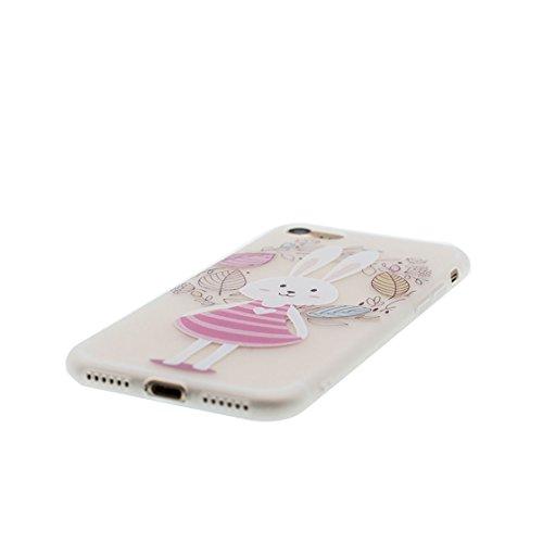 Custodia iPhone 7 4.7 - La copertura posteriore della cassa di gomma protettiva del silicone TPU del respingente ultra sottile Copertura per iPhone 7 case 4.7, Ragazza Ragazza
