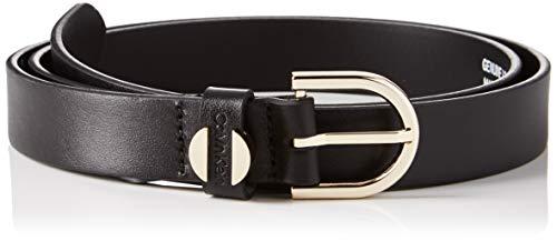 Calvin klein 2.5cm feminine belt cintura, nero (black 001), 6 (taglia produttore: 90) donna