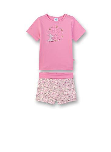 Sanetta Baby-Mädchen Pyjama kurz Zweiteiliger Schlafanzug, (rosa 3813), 92 (Herstellergröße:092)