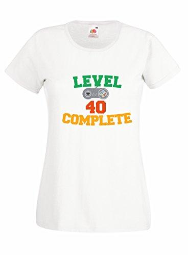 Settantallora shirt Maglietta donna J2386 Idea Regalo Compleanno 40 anni Gamer Bianco