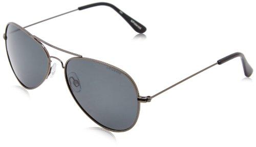 Polaroid uomo 04213 y2 a4x 58 occhiali da sole, grigio (gun/grey pz)
