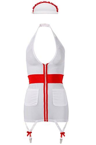 Cottelli Collection Costumes 24705782041 Krankenschwester, L, weiß, 1 - Paare Nette Kostüm