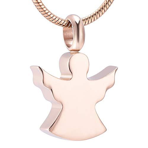 AGHWSL Asche Halskette Mädchen Edelstahl Feuerbestattung Memorial Anhänger Charme Halskette Religiöse Feine Geschenke Für Frauen Geschenk Schmuck -