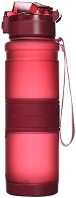 HoneyHolly Sport Trinkflasche - 400/500/700/1000ml - BPA Frei Kunststoff mit Filter, auslaufsicher Wasserflasche für Gym, Laufen, Yoga, Camping, Outdoor, Männer, Frauen & Kinder