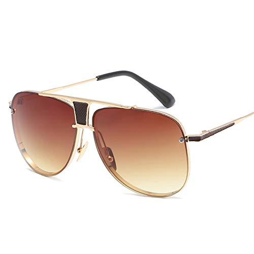 YYXXZZ Sonnenbrillen Pilot Sonnenbrille Herren Metallrahmen Metall Hochwertige Sonnenbrille Classic Pilot Eyewear, braun