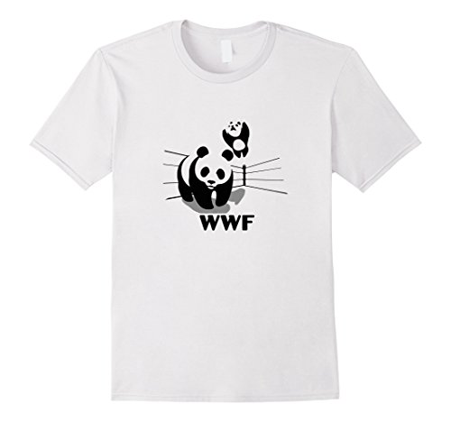 wwf-world-wildlife-wrestling-fund-funny-random-t-shirt-herren-grosse-l-weiss