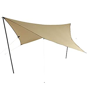 10T Tarp T/C 3×3 m Sonnensegel UV 80+ Sonnenschutz wasserdichtes Sonnendach Baumwoll-Mischgewebe