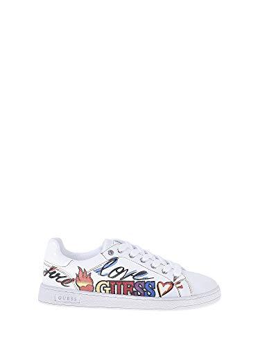 Guess, CRAYZ White Sneaker Bianca per Donna, 36
