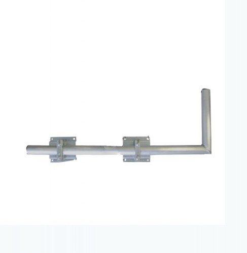 SAT Halterung Wandausleger 100cm aus Aluminium, inkl. Mastkappe (Rohr aus Aluminium/Wandabstandshalter aus verzinktem Stahl) NEU