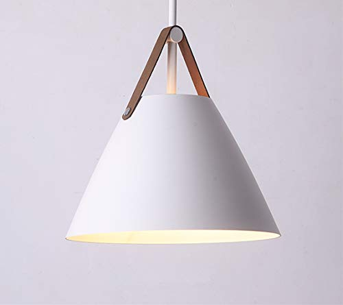 Nordic Minimalist LED Pendelleuchte Deckenlampe Schirm Restaurant Bar Cafe E27 Birne(Weiß)