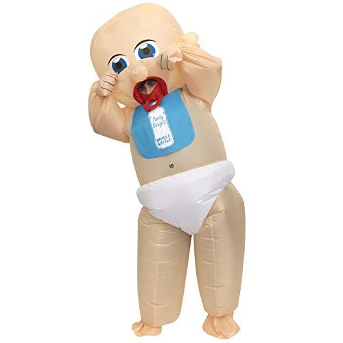 Morph MCGIBA Aufblasbares Kostüm, Unisex, Baby, Einheitsgröße Erwachsene