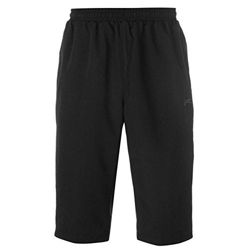 Slazenger Herren SL Woven 3/4 Trainingshose Shorts Schwarz M