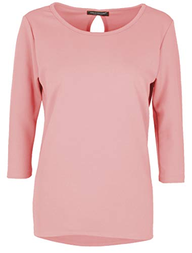 Emma & Giovanni - T-Shirt/Hambluse 3/4 Ärmel für alle Jahreszeiten - Damen (Rosa, DE 46/48 (Herstellergröße XL))