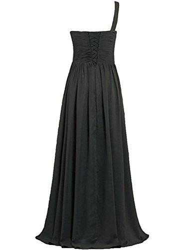 AZBRO Damen Luxury Strass Satin Prom Brautkleid Deep Blue