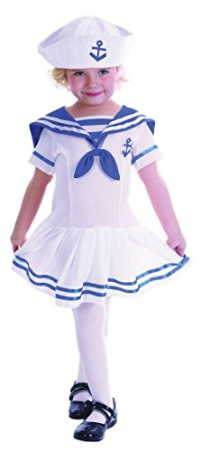 Mädchen Sailor Girl Kleinkinder Kostüm für Marineblau Fancy Kleid Outfit Kind (Kleinkind Mädchen Sailor Kostüm)