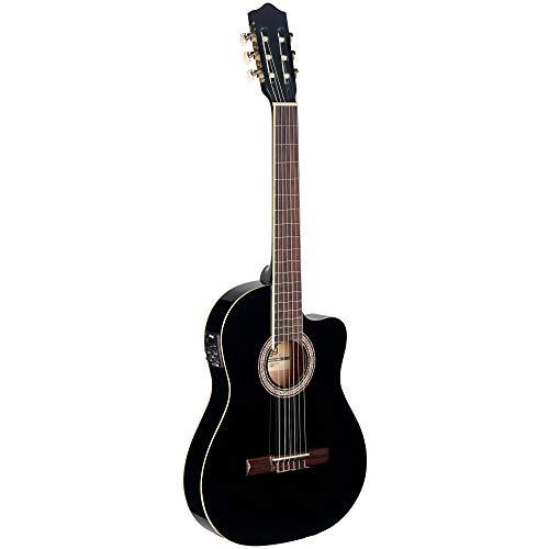 Stagg Electroacústica C546TCE BK guitarra clásica - negro