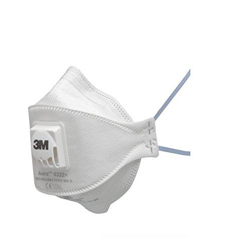 3M Aura Atemschutzmaske 9322+ (10 pack), EN-Sicherheit zertifiziert