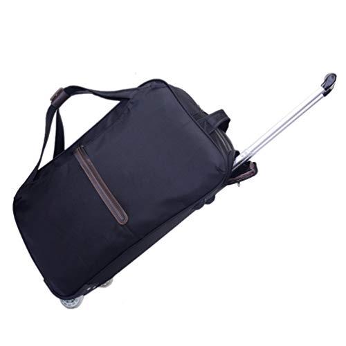 YANJINGHONG Trolley Bag Short-DistanceWaterproof Reisetasche FüR MäNner Und Frauen TrolleyTrolley Carry-On-GepäCktasche,Black,small (Frauen Rolling Laptop Tasche)