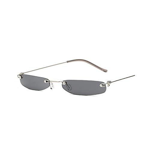 Vikimen Sportbrillen, Angeln Golfbrille,Women Tiny Sunglasses Men Small Narrow Sun Glasses Retro Rectangle Female Rimless Ultralight Eyewear Women Brand Designer as picture Red