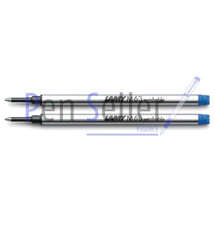 Lamy: Rollerball-Großraummine M63: Farbe: blau, Strichbreite: M, 2er-Set.