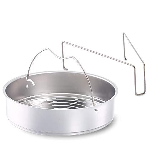 Fissler Schnellkochtopf Einsatz, Dünsteinsatz - Dämpfeinsatz gelocht - 22 cm Durchmesser, inklusive Dreibein - 610-300-00-800/0 -
