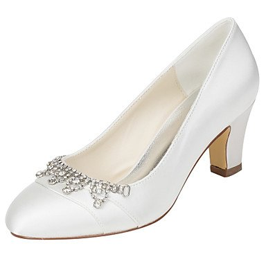 Zormey Frauen Heels Fr¨¹hling Herbst Club Schuhe Stretch Satin Hochzeit Party & Amp Abendkleid Ferse Crystal US8.5 / EU39 / UK6.5 / CN40