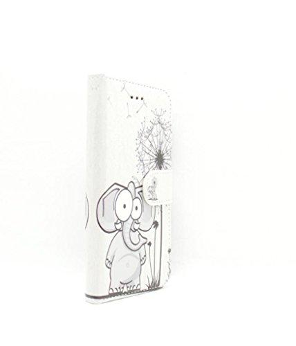 iPhone 7Wallet Fall–Zubehör für Handys von Oliviasphones weiß Musical Phone Giraffe Comic Elephant