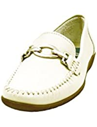 Metalico Estribo En Color Zapato Mocasin Casual Marca Deltell Mujer Adorno 26n Piel Beige 426 vxPawaXqf