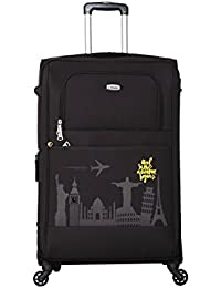 Timus Salsa Black 75 CM 4 Wheel Strolley Suitcase For Travel (Large Check In Luggage)