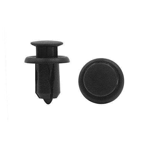 sourcingmap® 30pcs 11mm Trou Noir Rivets en plastique à glissière Pousser les clips axe aile pour Auto
