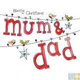 Happy Christmas Mum & Dad–Weihnachten Karten