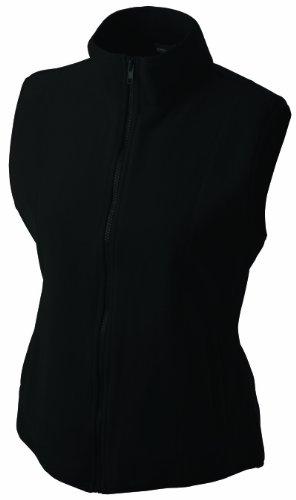 James & Nicholson Damen Weste Girly Microfleece Vest, Gr. 40 (Herstellergröße: XL), Schwarz
