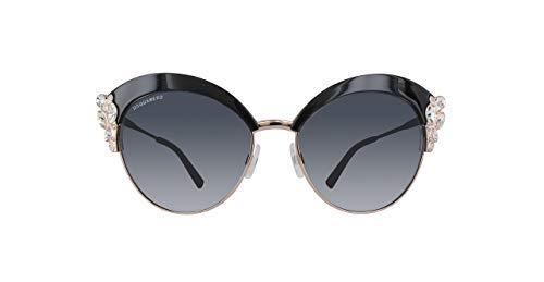 Dsquared2 dq0199-01a-schwarz occhiali da sole, nero (schwarz), 58.0 donna