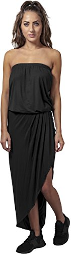 Urban Classics Damen Ladies Viscose Bandeau Dress Partykleid, Black, XXL (Classic Kleider Casual)