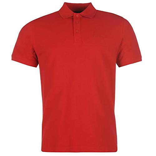 Pierre Cardin Camisa Polo Clásica de Manga Corta para Hombre in Algodón Premium (Medium, Red)