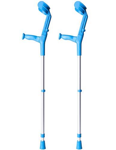 Queraltó Muletas 2 uds azules | Aluminio doble regulación
