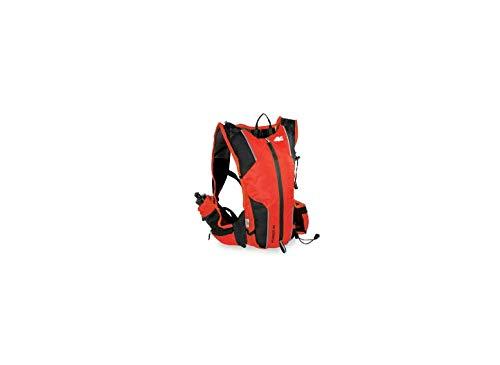 MARSUPIO® RUNNER 10 L Laufrucksack (10 Liter Geländelauf Berglauf Nylon 225 g), Farbe:Black - Red;Größe:10 L